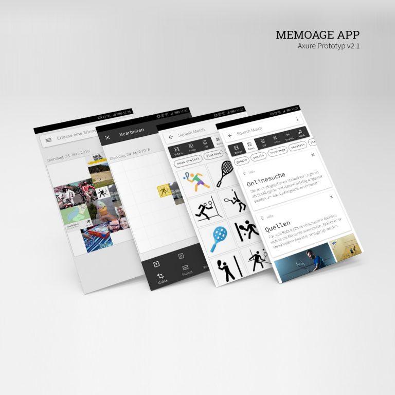 Memoage App Prototyp Screens_1x1